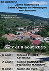 Festival de Saint Cirgues en Montagne en chanson